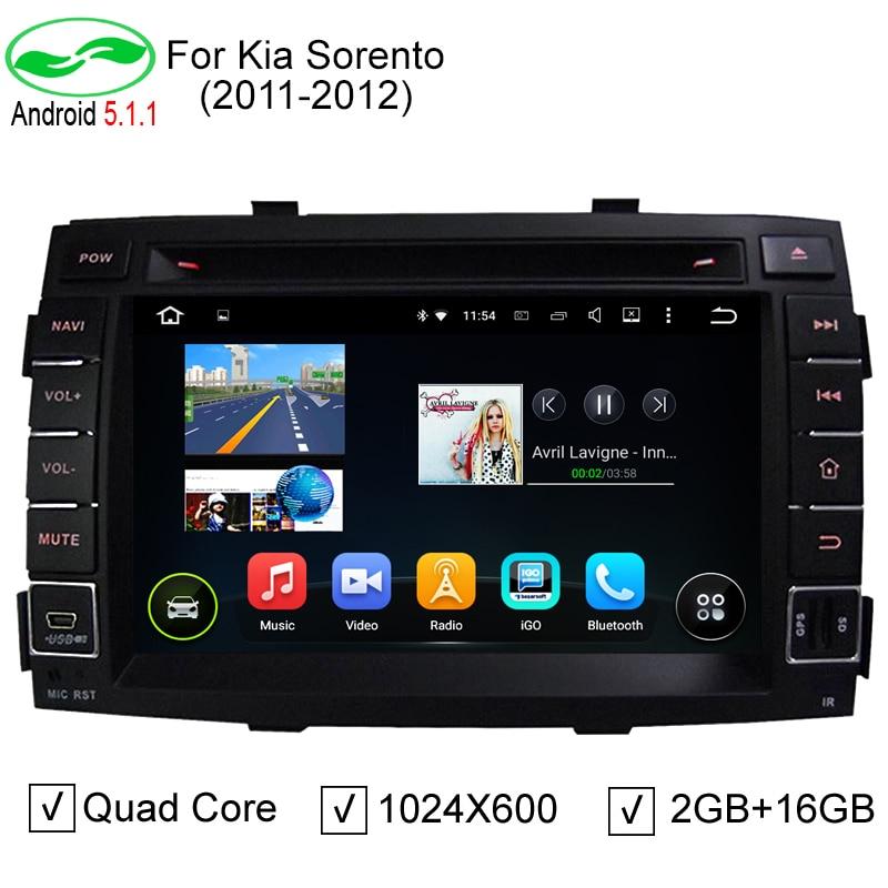 imágenes para HD 1024*600 7 Pulgadas Quad Core PC Del Coche Androide 5.1.1 Coche DVD GPS Para Kia Sorento R 2010 2011 2012 Sorento Estéreo Reproductor de Radio