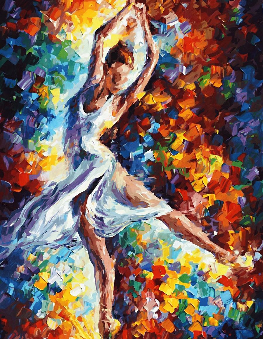 Dancing Girl Dance Beauty Paintings For Living Room By