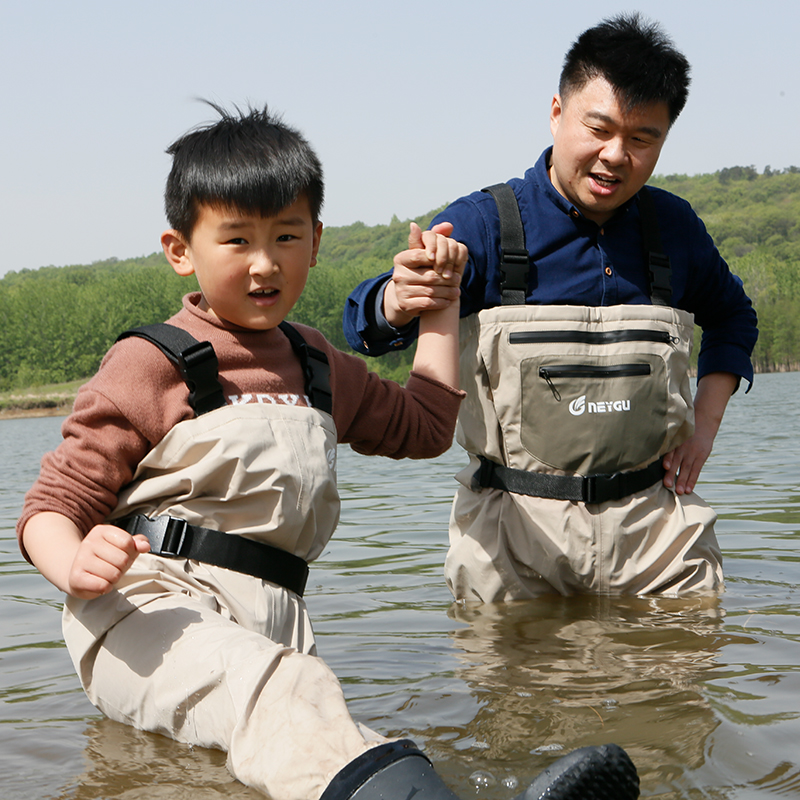 цена на Fly Fishing Wader Stocking Foot Chest Waders Breathable Waterproof Pants Water Playing Trousers