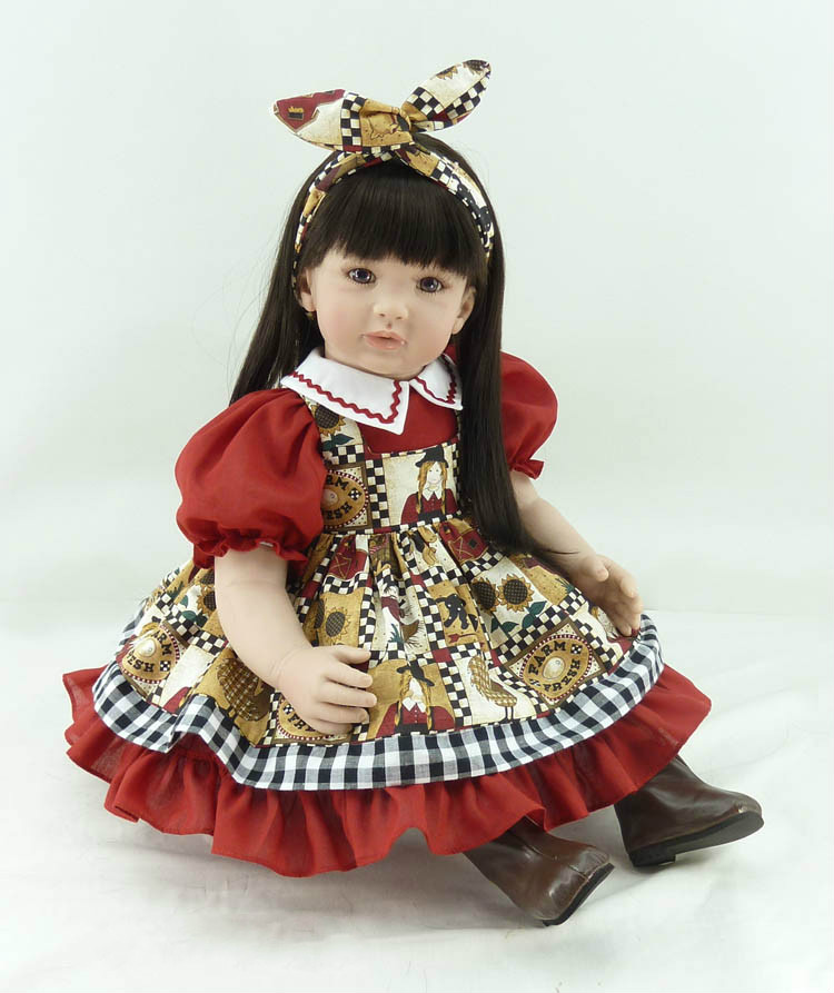 Baby Girls 22 Inch Doll with Princess Dress Newborn Realistic Reborn Baby Dolls Lifelike Dolls Pretend Play Toys Kids Gifts 1pcs pea dolls princess on the pea baby dolls plush toys baby comfortable toy gifts for kids girls gifts accompany sleep doll