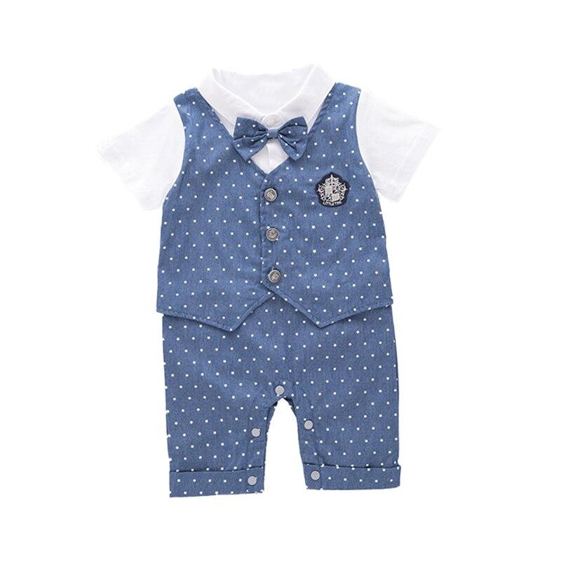 Newborn Fashion baby   rompers   boys clothes cotton tie suits tails wedding suit gentleman infant jumpsuit