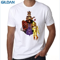 GILDAN חולצה fnaf הומור מצחיק רטרו גברים בגדי מותג מותאם אישית חדש פופולרי גברים חולצה שרוול קצר ילד 3XL