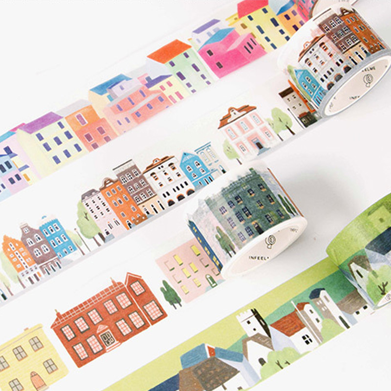 1.5-30*5-7M The good life washi tape DIY decorative scrapbooking masking tape adhesive label sticker tape stationery