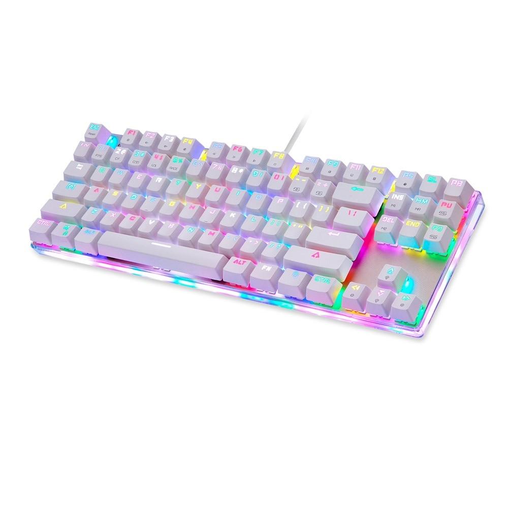 MotoSpeed K87s Coloré Lumineux Backlight87 clés Usb Filaire Gaming clavier rétroéclairé 1.21 p45