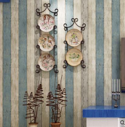Simple modern Mediterranean wallpaper self-adhesive vertical stripes wallpaper bedroom warm living room TV background wallSimple modern Mediterranean wallpaper self-adhesive vertical stripes wallpaper bedroom warm living room TV background wall
