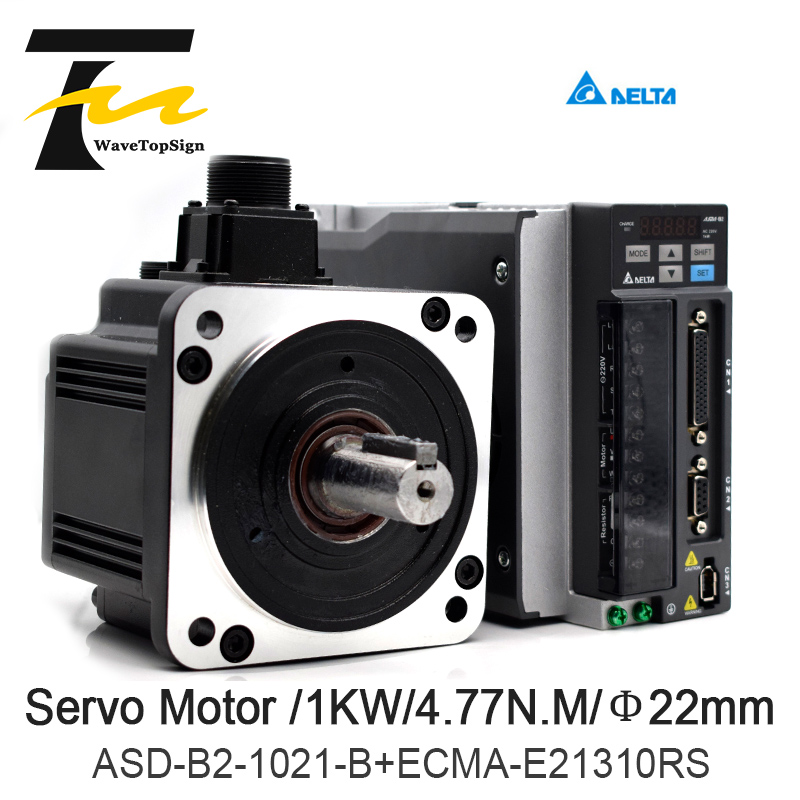 Delta Servo Motor 1KW B2 Series ASD-B2-1021-B+ECMA-E21310RS+3M Wire 4.77N.M 5.6A Use For Automated Industry