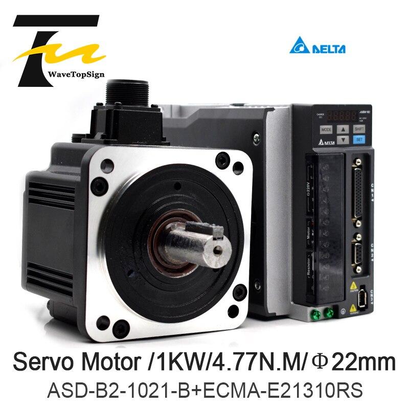 Delta Servo moteur 1KW B2 série ASD-B2-1021-B + ECMA-E21310RS + 3 M fil 4.77N.M 5.6A utilisation pour l'industrie automatisée