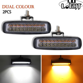 CO LIGHT Fog Lamp 6 inch 36W 72W Drl Led Work Light Combo 3000K 6000K Signal Light for Lada Boat Suv Atv Truck Tractor Off-Road