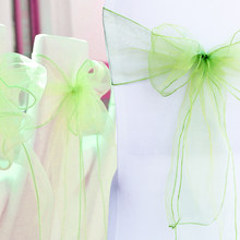 100 pieces/lot 18x275cm Wedding Organza Chair Cover Sashes Bow Sash Party Banquet Decor 32 colors Home textiles by free shipping(China)