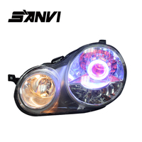 Bi Xenon Headlights For Volkswagen Polo 9N Hi Low Beam Projector Lens H1 Auto Parts Headlights Car headlight assembly