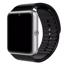 Gt08 smart watch bluetooth ranura para tarjeta sim empuje mensaje conectividad bluetooth nfc para iphone android phoones