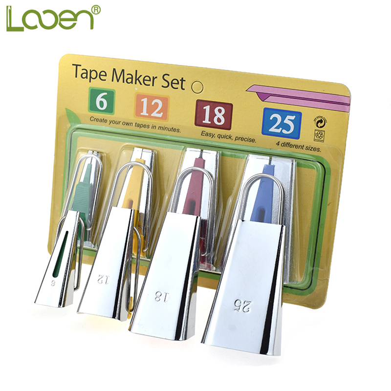Fabric Bias Tape Makers Sewing Binding Quilting Tools 4 Sizes 6//12//18//25mm