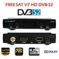 V7 Freesat HD DVB-S2 com USB Wi-fi Youtube Youporn Cccamd Apoio Biss Key PowerVu Receptor de TV Via Satélite Set Top Box