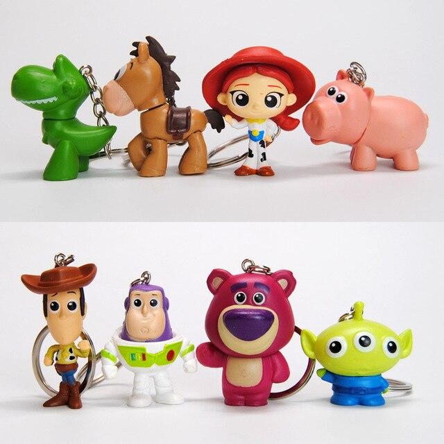 Llavero de figuras de Toy Story 4, Woody, Buzz Lightyear, Jessie, Alien, muñeco en PVC, regalo para niños