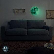 New Design Luminous Wall Clock Luminous Moon Wall Clock Bell Acrylic Hot Waterproof W all Clock