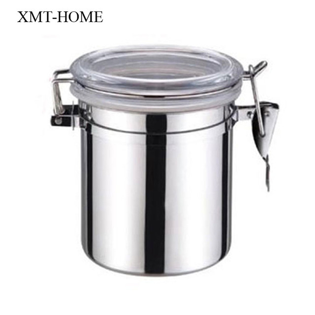 XMT HOME stainless steel sealed jar container sugar bowls tea coffee