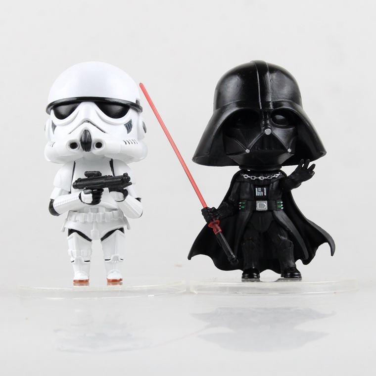 NEW Star Wars Acțiune Figura jucărie Darth Vader Storm trooper PVC model de acțiune Figura negru Worrior Clone Trooper Toy Jucarii 14+