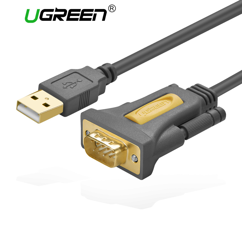 Ugreen USB to RS232 COM Port Serial PDA 9 DB9 Pin Cable Adapter Prolific pl2303 for Windows 7 8.1 XP Vista Mac OS USB RS232 COM gilding socket usb to rs232 data converter virtual serial port virtual com port virtual 232 adapter for windows8
