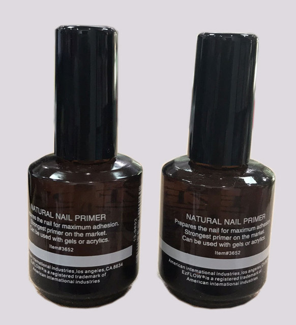 Em 99 New 2pc 14ml Ezflow Natural Nails Primer Nail Art Tool Products Acrylic