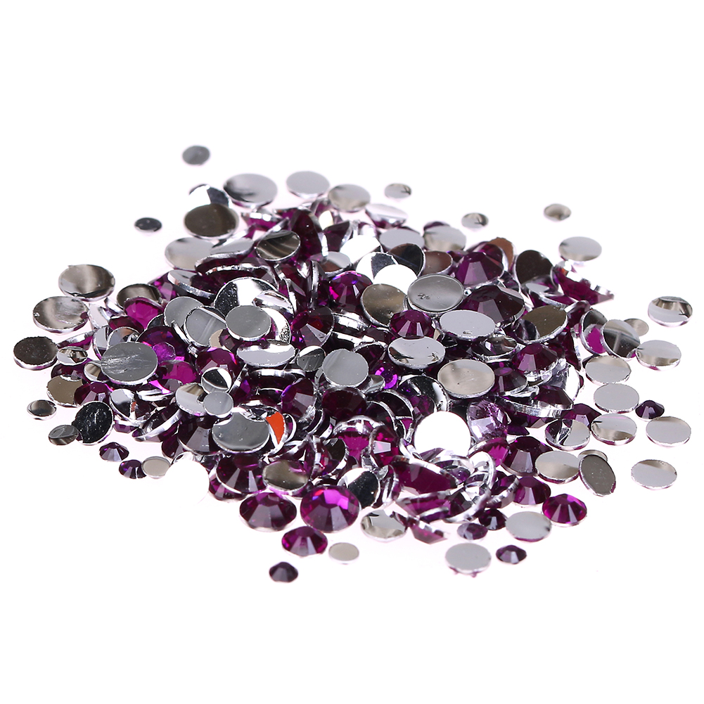 Resin Rhinestones For Nails 2-6mm Dark Rose Non Hotfix Glitter Decorations Manicure 3D Nail Art Supplies Charms Design gitter 2 6mm citrine ab color resin rhinestones 14 facets round flatback non hotfix beads for 3d nail art decorations diy design