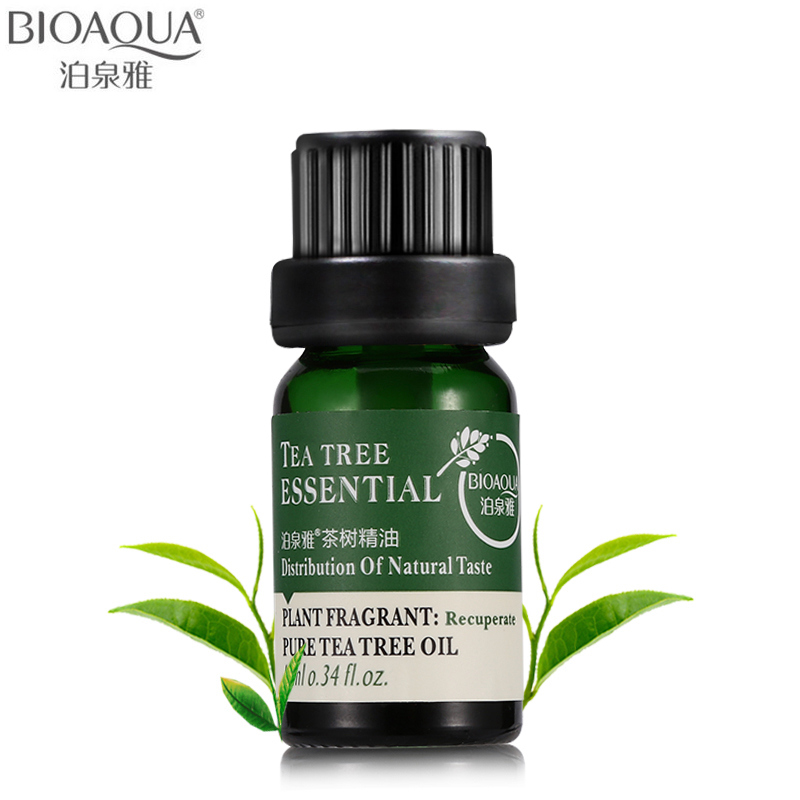 BIOAQUA Brand Pure Tea Tree Essential Oil Face Body Hair Skin Care Moisturizing Anti Aging Perfume Massage Oils Liquid 10ml image