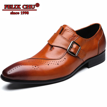 ITALIAN STYLE COW LEATHER MONK STRAP CASUAL LOAFERS SHOES MEN FORMAL BUSINESS OFFICE FOOTWEAR MALE