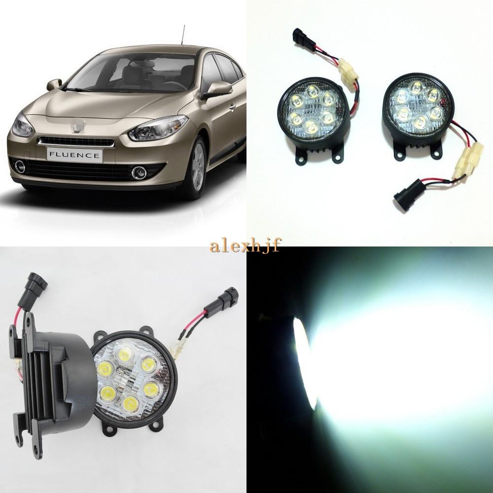 July King 18W 6LEDs H11 LED Fog Lamp Assembly Case for Renault Fluence 2010~2015 etc, 6500K 1260LM Daytime Running Lights