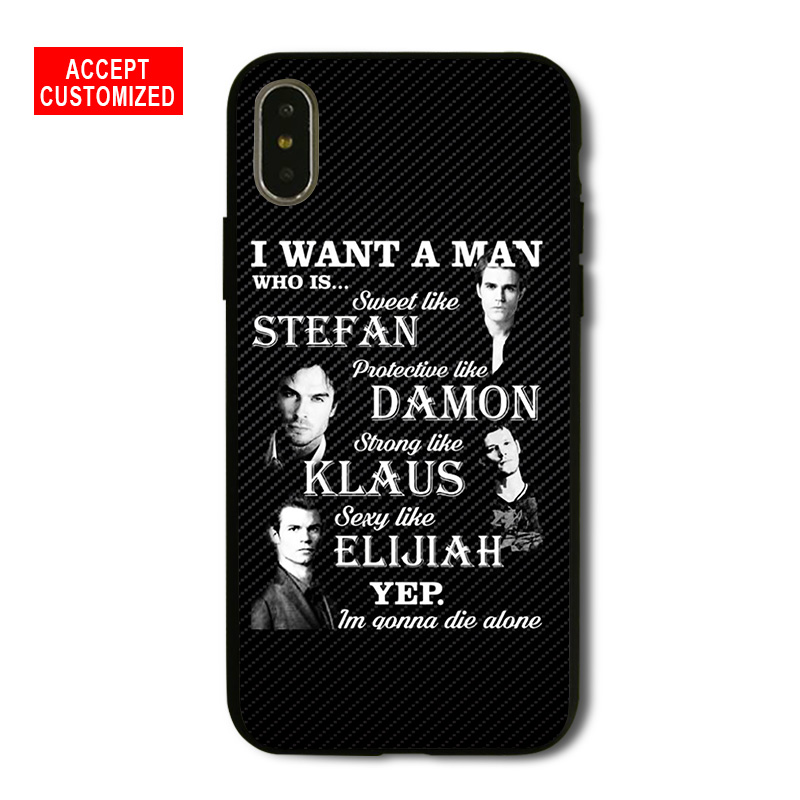 The Vampire Diaries Shell Cover Case for iPhone 5 5S SE 6 6S 7 8 Plus X XS Max XR Samsung Galaxy