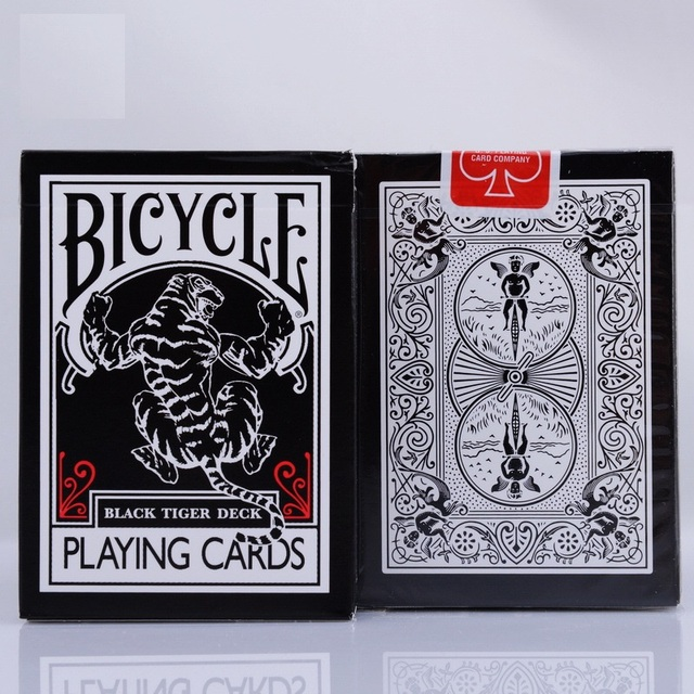 1 unids Bicicletas Tigre Negro Ellusionist Cubierta Playing Card Poker Cartas Mágicas Close Up Trucos Magia de Escenario para el Mago Profesional
