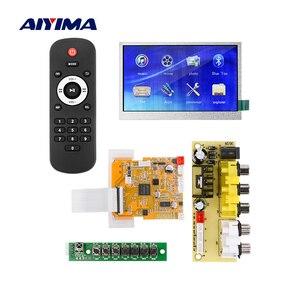 AIYIMA 4,3-дюймовый ЖК-дисплей Bluetooth декодер плата MP3-плеер автомобильный аудио USB TF FM Радио MP3 WMA декодер для домашнего усилителя