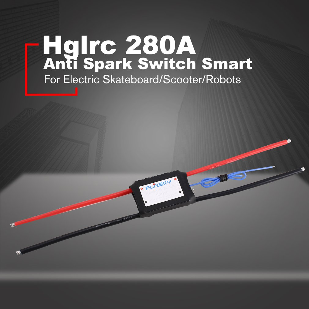 Hglrc-FLPSKY Anti Spark Switch Smart 280A 13s Wide Application for Electric Skateboard/Scooter/Robots AccessoriesHglrc-FLPSKY Anti Spark Switch Smart 280A 13s Wide Application for Electric Skateboard/Scooter/Robots Accessories