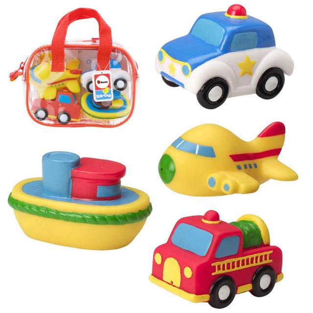 Brinquedos para o banho das crianças à prova d' água Marinha transporte de animais do bebê macia salpicos de água de natação brinquedos brinquedos seguro e não tóxico
