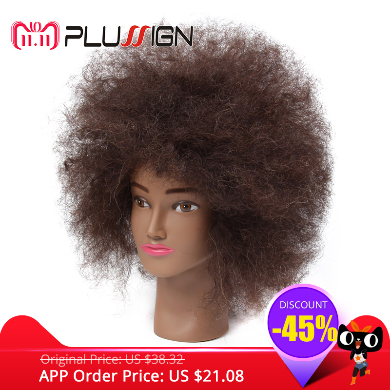 Afro Natural Hair Mannequin Head 100 Human Hair Hairdresser Training Head With Clamp Kit For Hair Cutting Styling For Practice graceful short side bang fluffy natural wavy capless human hair wig for women