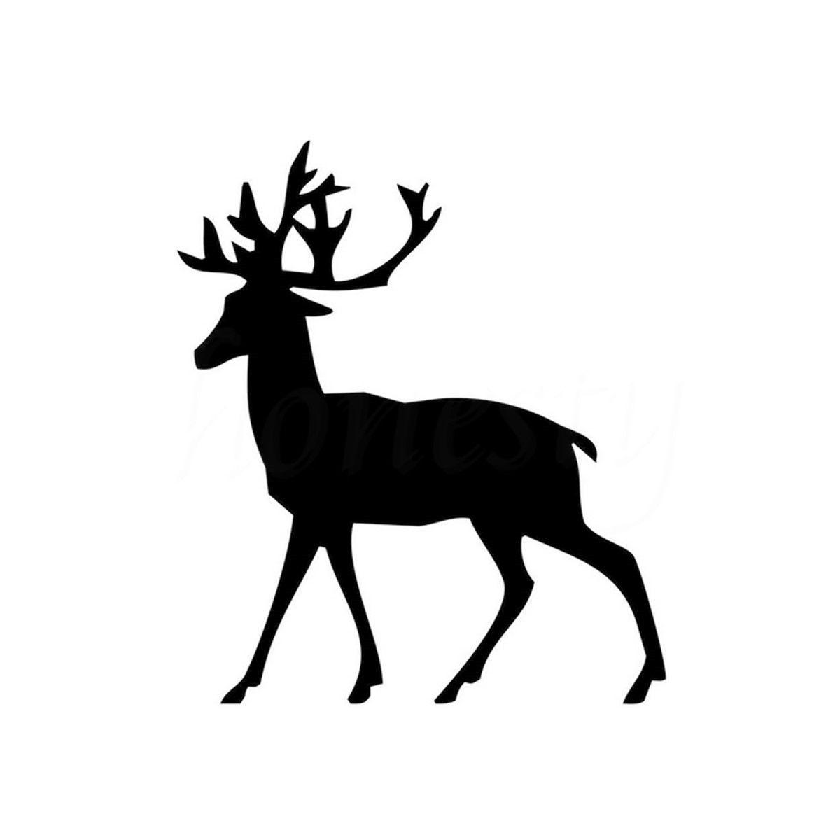 Ciervos Elk Animal Divertido Etiqueta Engomada Del Coche Del Hogar de la Pared d