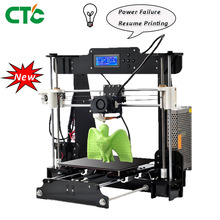 3D Printer A8 DIY  Acrylic Frame Upgradest High Precision Resume Power Failure Printing Reprap Prusa modeling printer Drucker 3d chinese supplier cheap 3d printers anet a8 a6 a3s desktop reprap prusa i3 diy 3d printer kit high precision printing machine