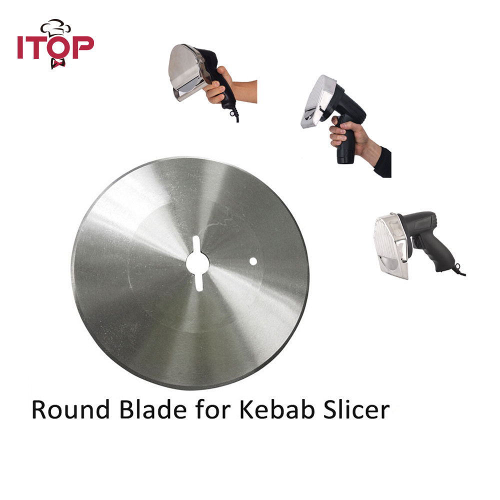 Blade for Kebab Slicer Gyros Knife Shawarma Cutting Machine Round Blade Serrated Blade Toothed knife blade for meat cutting machine food processors with blade knife for commercial or home use qw