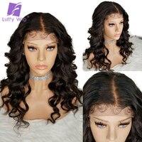 Луффи 5*4,5 шелк база полный кружево человеческие волосы Искусственные парики с ребенком волос предварительно сорвал волнистые натураль