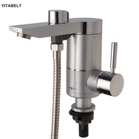 Bottom Water Flow Inlet Electric Shower Kitchen Instant Tankless Electric Heater Sink Hot Tap Faucet Mixer Hot And Cold Water