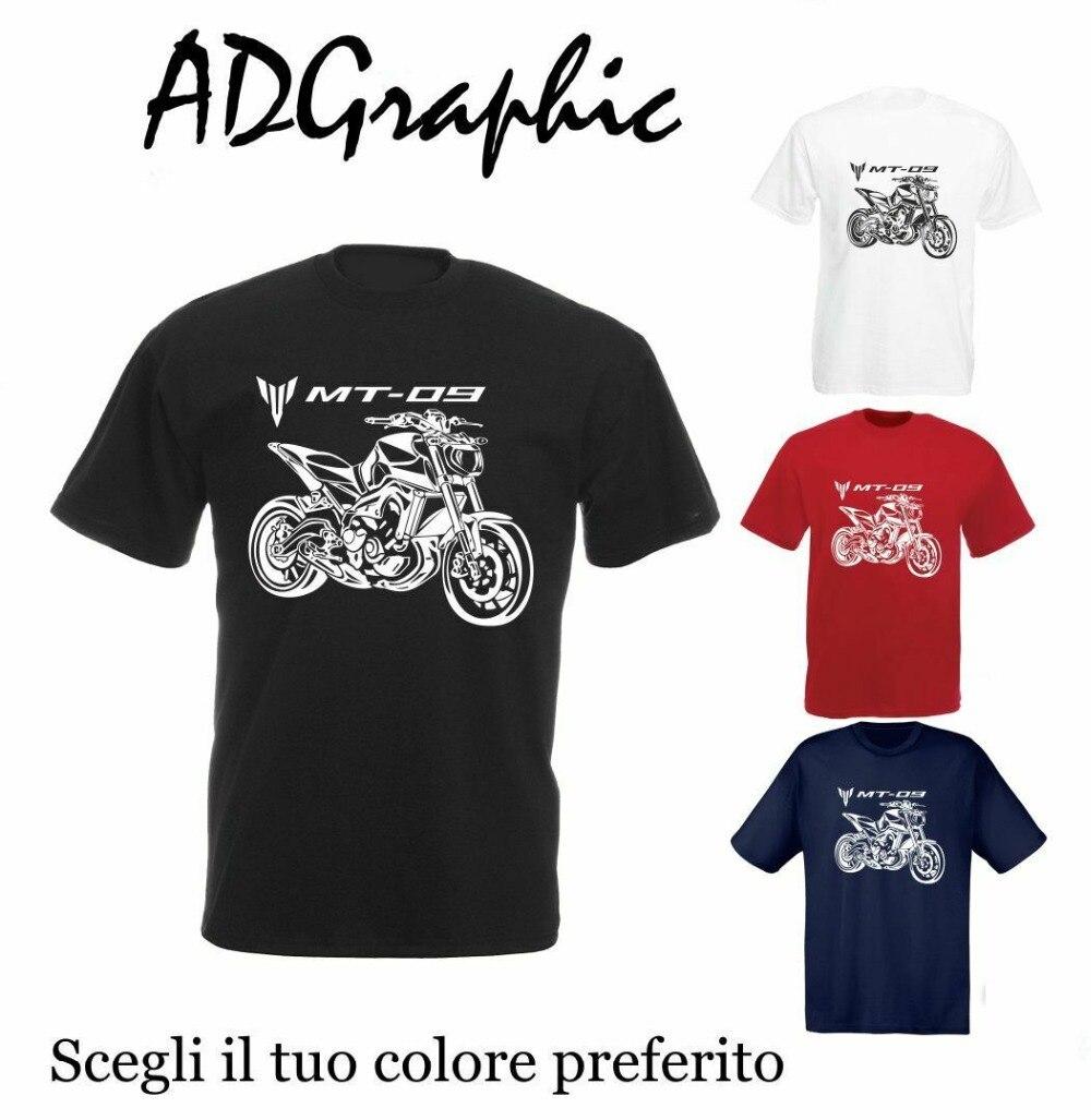 T-Shirt de Algodão Inhame Mt09 Mt 09 Mt-09 Moto Moto Motocicleta 2019 Da Forma Dos Homens de Manga Curta Slim Fit Topos & T magros Camisetas
