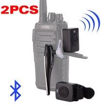 2PCS מכשיר קשר Bluetooth אוזניות K/M ממשק אוזניות כף יד שתי דרך רדיו אלחוטי אפרכסת עבור אופנוע Baofeng
