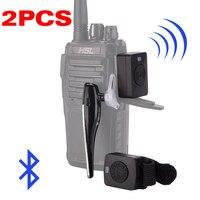 מכשיר הקשר 2pcs מכשיר הקשר אוזניית Bluetooth K / M ממשק אוזניות כף יד שני הדרך רדיו אלחוטי באפרכסת אופנוע Baofeng (1)