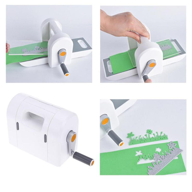 Máquina de troquelado Manual de Scrapbooking máquina de grabado de acero inoxidable DIY Herramientas para el hogar fiesta de Interés de regalo de entrenamiento