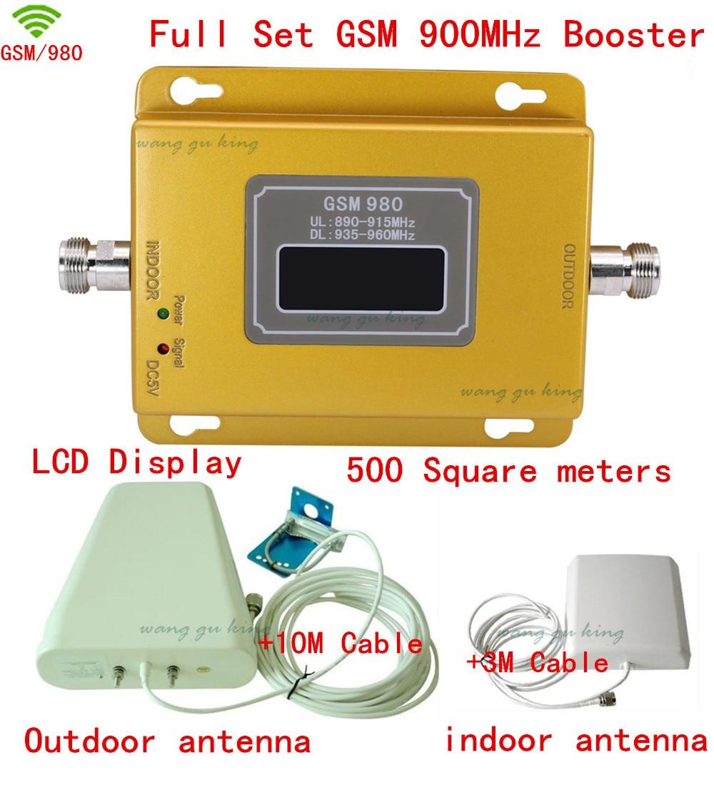 FULL SET LCD BOOSTER ! High Gain 2G GSM 70db Signal Booster KIT GSM 900 SIGNAL Repeater Amplifier Signal Bar GSM Signal Repeater