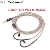 GUCraftsman 6n occ серебро MMCX se846 w60 w80 xelento solaris Андромеда ATLAS AK T8iE MkII 2,5/4,4 mmBalanec кабель наушников
