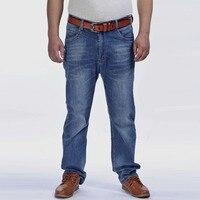 52 48 46 44 42 9XL 8XL 7XL 6XL 5XL Для мужчин тонкий Повседневные штаны для мужчин эластичные Для Мужчин's Джинсы для женщин светло-голубой Качественный хл...