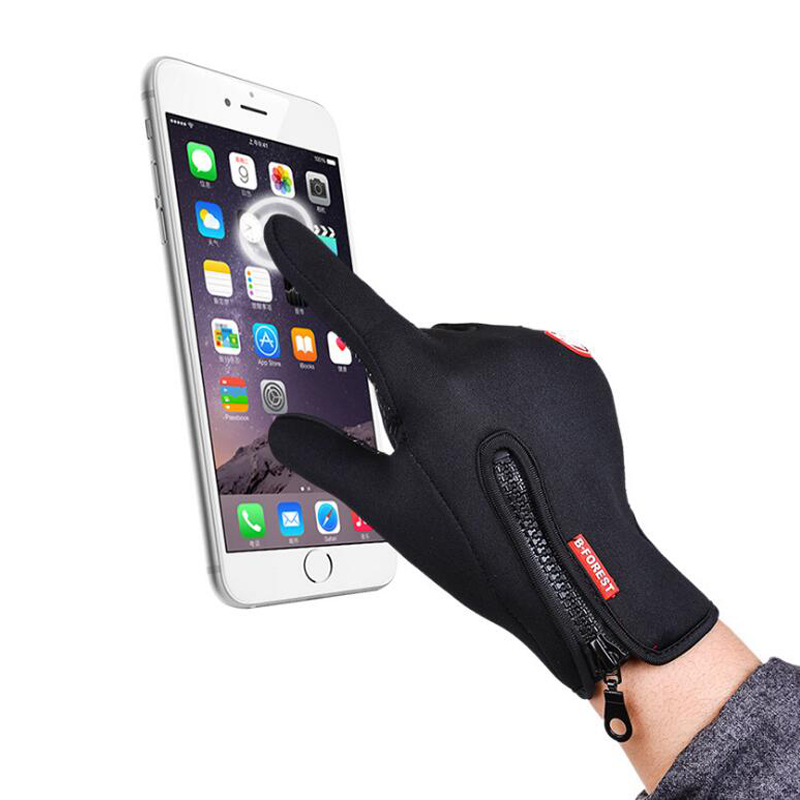 Winter Gloves Fleece Thermal Warm Bike Sport Gloves Motorcycle Cycling Bicycle Equipment Gloves Full Finger Phone Glove