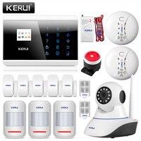 KERUI 433 МГц Беспроводная GSM PSTN сигнализация 850/1900/1800/900 МГц