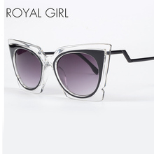 ROYAL GIRL New Summer Oversize Square Sunglasses Brand Designer Women Sun Glasses shades Cat Eye Glasses Oculos ss082