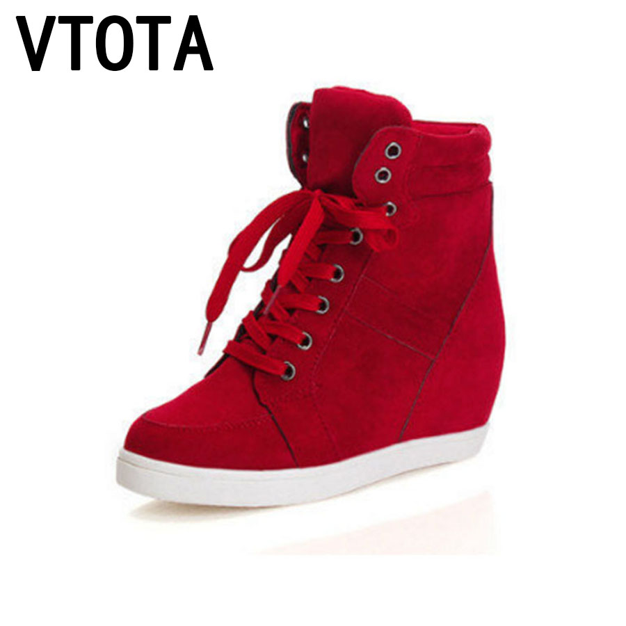 VTOTA Ankle Boots For Women Sneakers Spring Autumn Boots botas mujer Platform Wedges Casual Shoes Women Boots Zapatos Mujer C44 vtota boots women fashion autumn martin boots warm women shoes ankle boots for women winter botas mujer wedges ankle boots d23