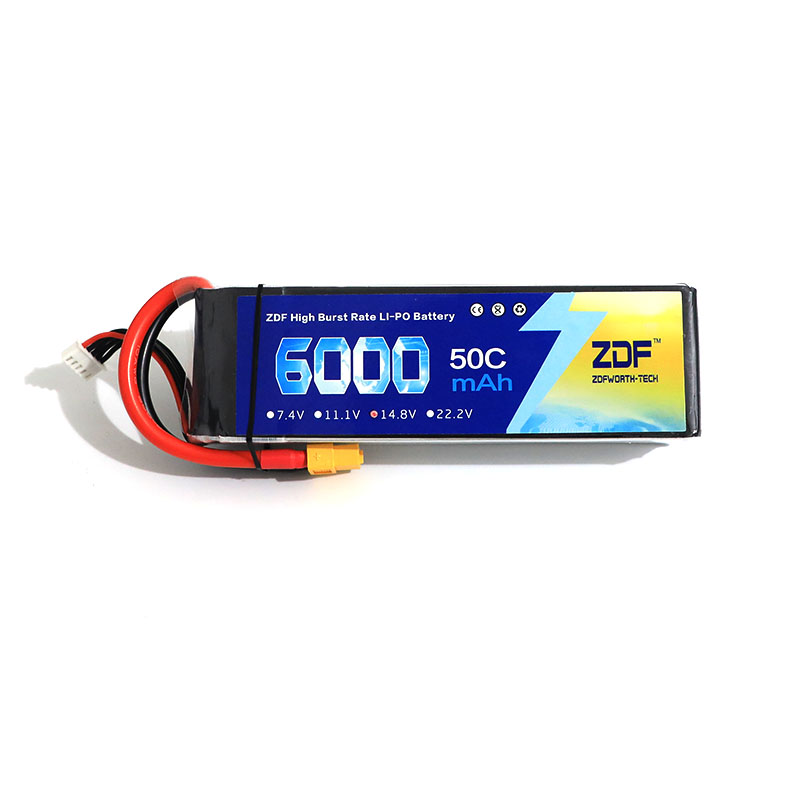 ZDF Power 4S <font><b>5S</b></font> 14.8V 18.5V <font><b>6000mAh</b></font> 8000mah 50C for Trex-450 Fixed-wing Helicopter Quadcopter image